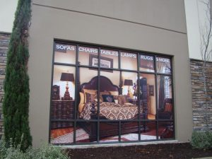 Tiled Print Banner for Window Display