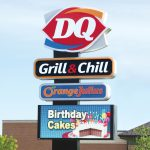 Restaurant Pole Sign with Promotional Banners