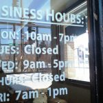 Cut Vinyl Business Hours Door Stickers