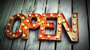 Marquee Open Sign
