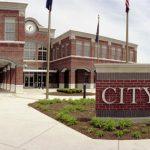City Hall Brick Monument Sign