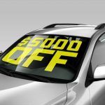 Cut Vinyl Lettering for Car Windshields & Windows