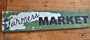 Custom Wood Farmer's Market Sign
