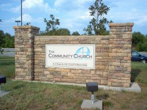 Church Custom Stone Monument Sign