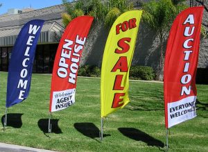 Flag Signs for Open House & Promotions