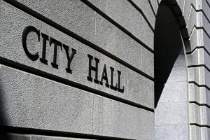 City Hall Custom Engraved Stone Construction Blocks