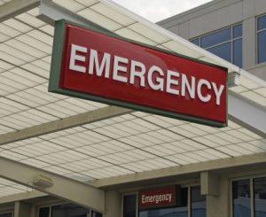 Backlit Emergency Room Hanging Sign