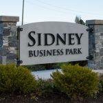 Custom Stone Block Business Park Monument Sign