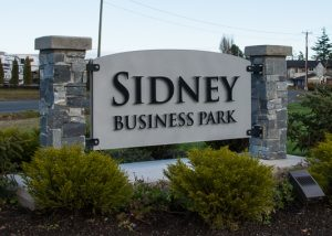Custom Stone Block Business Park Monument Sign