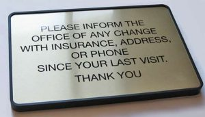 Waiting Room Signage, HIPPA Privacy Sign, Engraved Plaque Sign