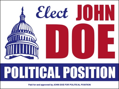 political sign templates