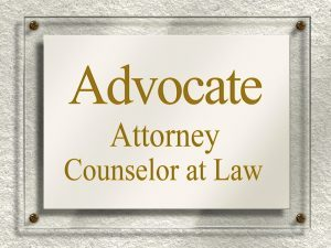 Custom Attorney Office Plaque Sign