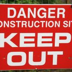 Construction Site Sign, Safety Warning Signs, Danger Sign, Keep Out Sign,