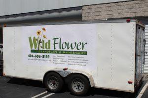 Custom Trailer Wrap- Wild Flower