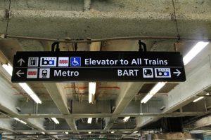Large Facility Hanging Directional Signage