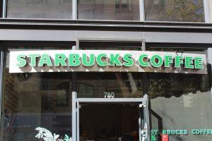 Starbucks Backlit Channel Lettering Business Sign