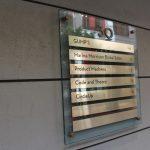 Glass & Metallic Building Directory Sign