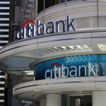 Citibank Dual Storefront Signage, Channel Letter Sign, Custom Vinyl WIndow Sign