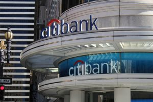 Citibank Dual Storefront Signage, Channel Letter Sign, Custom Vinyl WIndow Sign
