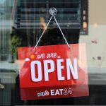 Branded Door Open For Business Sign