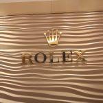 Rolex Custom Metallic Lobby Sign
