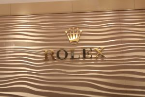 Rolex Custom Metallic Lobby Sign