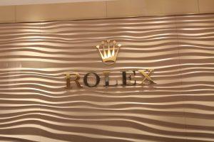 Rolex Custom Metallic Lobby Sign with Logo