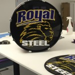 marching band drum custom sign