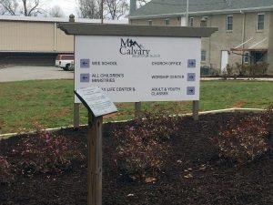 Post & Panel yard sign