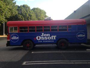 Custom Bus Wrap for Political Campaign
