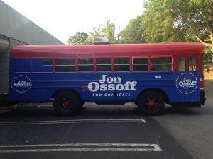 Custom Political Bus Wrap