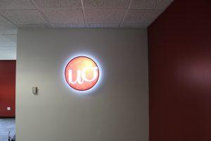 Custom Lighted Lobby Sign