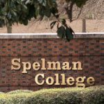 Spelman College Brick Channel Letter Wall Sign