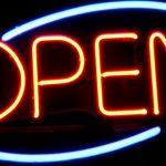 Neon Restaurant Open Sign