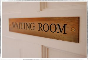Custom Wood Waiting Room Identification Sign